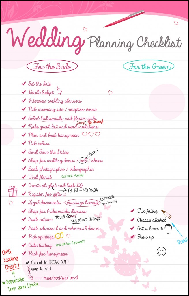 Wedding planning checklist the groom has it so easy for What to know about planning a wedding