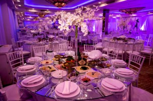 banquet hall room purple