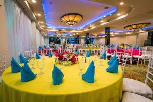 Colorful Summer Indoor Wedding Anoush.com